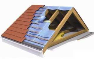 Укладка сплошного настила на крышу