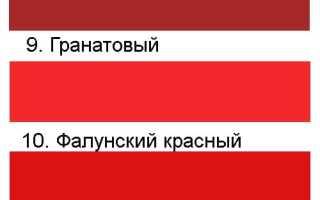 Сочетания красного цвета
