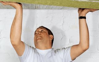 Обшивка и утепление потолка