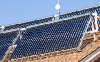 Работа солнечного коллектора
