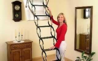 Способ монтажа лестницы на чердак