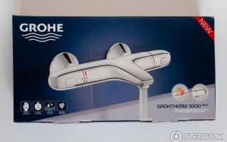 Смеситель Grohe Grohtherm-1000 34155000: особенности, характеристики