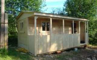 Дачная бытовка с террасой – инструкция к работе. Блок хаус в качестве отделочного материала для бытовки – в чем преимущества