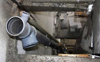 Монтаж стояков канализации
