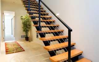 Лестница из различных материалов