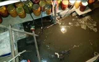 Спасаем погреб от паводков