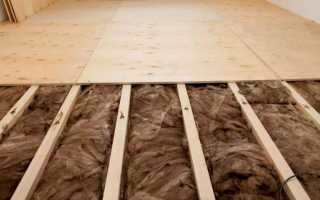 Черновой пол из древесных плит и фанеры