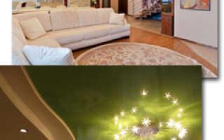 Чем отличаются глянцевые натяжные потолки от подвесных и характеристика ПВХ пленок