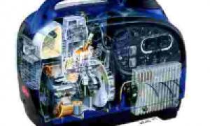 Электрическая схема двухтактной бытовой бензиновой элекстростанции