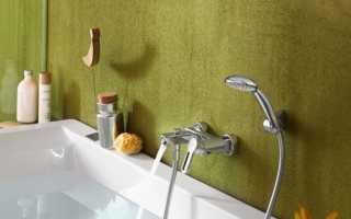 Какая должна быть высота смесителя над ванной?